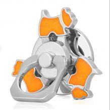 Универсална стойка за телефон / пръстен / Метален Фиджет Спинер / Metal Fidget Spinner - оранжево куче