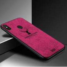 Луксозен гръб Deer за Xiaomi Redmi Note 5 / Note 5 Pro - цикламен