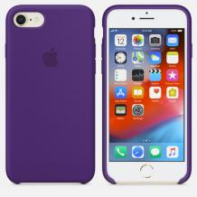 Оригинален гръб Silicone Cover за Apple iPhone 6 / iPhone 6S - лилав