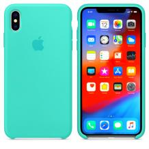 Оригинален гръб Silicone Cover за Apple iPhone X / iPhone XS - мента