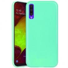 Силиконов калъф / гръб / TPU NORDIC Jelly Case за Samsung Galaxy A70 - мента