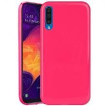 Силиконов калъф / гръб / TPU NORDIC Jelly Case за Samsung Galaxy A70 - розов