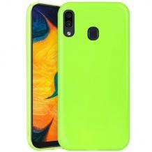 Силиконов калъф / гръб / TPU NORDIC Jelly Case за Samsung Galaxy A40 - лайм