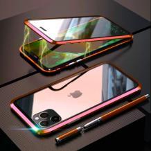 Магнитен калъф Bumper Case 360° FULL за Apple iPhone 11 6.1'' - прозрачен / червена рамка