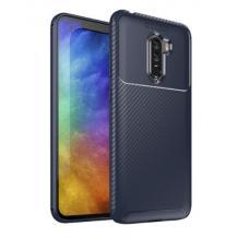 Луксозен силиконов калъф / гръб / TPU Auto Focus за Xiaomi Pocophone F1 - тъмно син / Carbon