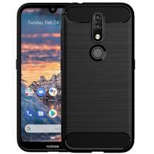 Силиконов калъф / гръб / TPU за Nokia 4.2 - черен / carbon