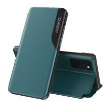 Луксозен калъф Smart View за Samsung Galaxy A32 4G - тъмно зелен