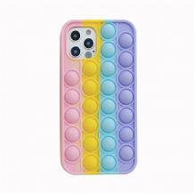 Силиконов калъф / гръб / TPU 3D Rainbow POP за Apple iPhone 12 / 12 Pro 6.1'' - art 1
