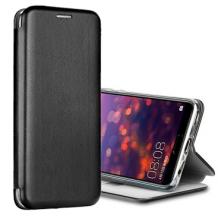 Луксозен кожен калъф Flip тефтер със стойка OPEN за Huawei P Smart S - черен