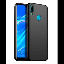 Силиконов калъф / гръб / TPU за Huawei P40 Lite E - черен / мат