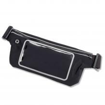 Универсален спортен калъф за кръста за смартфони с дисплей до 4.7 инча - черен