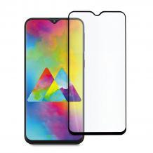 9D full cover Tempered glass screen protector за Samsung Galaxy M21 / Извит стъклен скрийн протектор  за Samsung Galaxy M21 - черен
