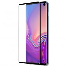 5D full cover Tempered glass Full Glue screen protector Samsung Galaxy Note 10 Lite / A81 / Извит стъклен скрийн протектор с лепило от вътрешната страна за Samsung Galaxy Note 10 Lite / A81 - черен