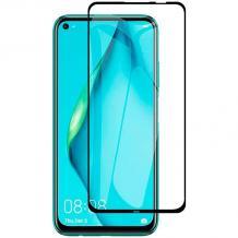 5D full cover Tempered glass Full Glue screen protector Huawei P40 Lite / Извит стъклен скрийн протектор с лепило от вътрешната страна за Huawei P40 Lite - черен