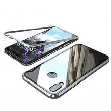 Магнитен калъф Bumper Case 360° FULL за Huawei P Smart Z / Y9 Prime 2019 - прозрачен / сребриста рамка