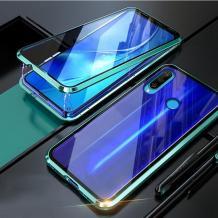 Магнитен калъф Bumper Case 360° FULL за Huawei P Smart Z / Y9 Prime 2019 - прозрачен / зелена рамка