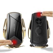 Стойка за кола с безжично зареждане Smart Sensor Q2 / Q2 Smart Sensor Car Wireless Charger 10W - златиста
