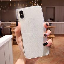 Силиконов калъф / гръб / TPU Bling за Samsung Galaxy M10 - прозрачен / брокат