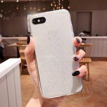 Силиконов калъф / гръб / TPU Bling за Huawei Y5 2018 - прозрачен / брокат