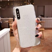 Силиконов калъф / гръб / TPU Bling за Huawei P30 - прозрачен / брокат