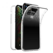 """Луксозен силиконов калъф / гръб / TPU 2.0mm за Apple iPhone 11 Pro Max 6.5"""" - прозрачен"""