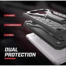 Силиконов гръб TPU Armor Kickstand Case с твърда част за Samsung Galaxy S10 - черен