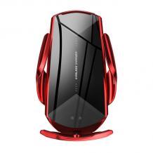 Стойка за кола с безжично зареждане Smart Sensor Q2 / Q2 Smart Sensor Car Wireless Charger 10W - червена