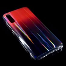 Силиконов калъф / гръб / TPU Rainbow за Samsung Galaxy A50 - преливащ / червен