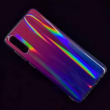 Силиконов калъф / гръб / TPU Rainbow за Samsung Galaxy A50 - преливащ / розово и лилаво