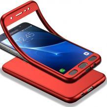 Луксозен силиконов калъф / гръб / TPU 360° за Xiaomi Redmi 5 Plus - червен / лице и гръб