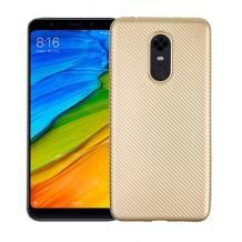 Силиконов калъф / гръб / TPU за Xiaomi Redmi 5 - златист / Carbon
