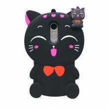 Силиконов калъф / гръб / TPU 3D за Xiaomi RedMi Note 4 / RedMi Note 4X - Lucky Kitty / черен