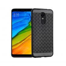 Луксозен силиконов калъф / гръб / TPU i-Zore за Xiaomi RedMi Note 4 / RedMi Note 4X - черен / плетеница