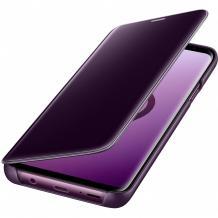 Луксозен калъф Clear View Cover с твърд гръб за Xiaomi Mi Note 10 Lite - лилав