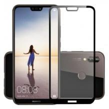 Удароустойчив протектор Full Cover / Nano Flexible Screen Protector с лепило по цялата повърхност за дисплей на Huawei P20 Lite – черен