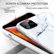 """Луксозен твърд гръб за Apple iPhone 11 6.1"""" - бял / мрамор"""