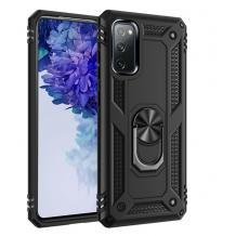 Силиконов гръб Spigen със стойка и магнитно захващане за Samsung Galaxy S21 – черен