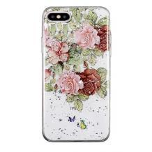 Луксозен силиконов калъф / гръб / TPU за Apple iPhone 7 Plus / iPhone 8 Plus - Рози / блестящи частици
