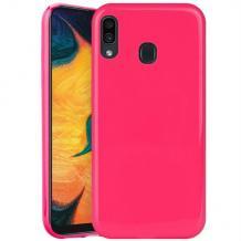Силиконов калъф / гръб / TPU NORDIC Jelly Case за Samsung Galaxy A40 - розов
