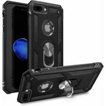 Силиконов гръб Spigen със стойка и магнитно захващане за Apple iPhone 7 Plus / iPhone 8 Plus – черен