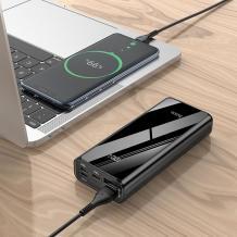 Универсална външна батерия HOCO J45 Pro Power Bank Dual USB / LED Display / PD20W+Type-C 3.0 10000mAh / Universal HOCO J45 Pro Power Bank 10000mAh / PD20W - черна