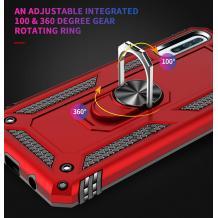 Силиконов гръб Spigen със стойка и магнитно захващане за Samsung Galaxy A10 - червен