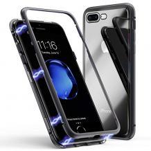 Магнитен калъф Bumper Case 360° FULL за Apple iPhone 6 / iPhone 6S - прозрачен / черна рамка