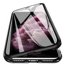 """Магнитен калъф Bumper Case 360° FULL за Apple iPhone 11 6.1"""" - прозрачен / черна рамка"""