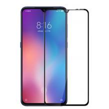3D full cover Tempered glass Full Glue screen protector за Xiaomi Mi 10 Lite / Извит стъклен скрийн протектор с лепило от вътрешната страна за Xiaomi Mi 10 Lite - черен