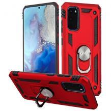 Силиконов гръб Spigen със стойка и магнитно захващане за Huawei P40 Lite – червен