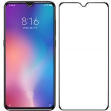 3D full cover Tempered glass Full Glue screen protector Samsung Galaxy A20 2019 / Извит стъклен скрийн протектор с лепило от вътрешната страна за Samsung Galaxy A20 2019 - черен
