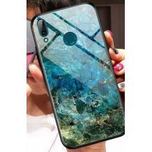 Луксозен стъклен твърд гръб за Xiaomi Redmi 7 - син