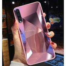 Луксозен твърд гръб със силиконов кант за Samsung Galaxy A10/M10 - розов \ призма