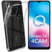 Силиконов калъф / гръб / TPU за Alcatel 3X 2020 - прозрачен